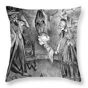 The Perils Of Pauline Throw Pillow