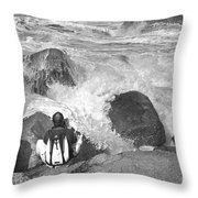 The Photographer On Location Throw Pillow