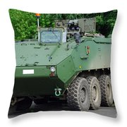 The Piranha IIic Of The Belgian Army Throw Pillow