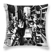 The Printing Of Books Throw Pillow