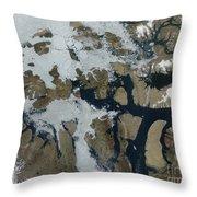 The Queen Elizabeth Islands Throw Pillow
