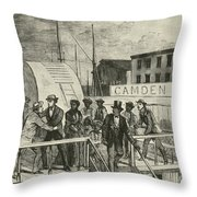 The Rescue Of Jane Johnson And Her Throw Pillow
