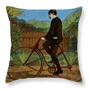 The Rover Bicycle Throw Pillow