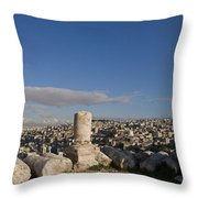 The Ruins Of The Ancient Citadel, Or Throw Pillow