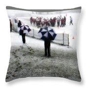 The Snow Game Throw Pillow