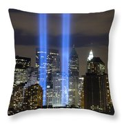 The Tribute In Light Memorial Throw Pillow