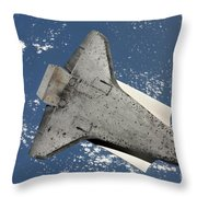 The Underside Of Space Shuttle Throw Pillow