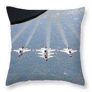 The U.s. Air Force Thunderbird Throw Pillow