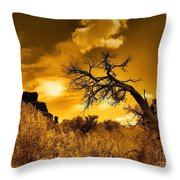 The Weight Of The Clouds In Sepia Throw Pillow