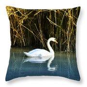 The White Swan Throw Pillow
