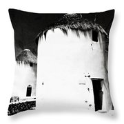 The Windmills Of Mykonos Throw Pillow