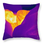 Thermogram Of A Sleeping Girl Throw Pillow