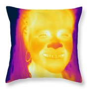 Thermogram Of A Woman Throw Pillow