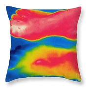 Thermogram Of Circulation In Feet Throw Pillow
