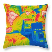 Thermogram Of Students In A Lecture Throw Pillow
