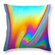 Thin Film Optical Interference Throw Pillow