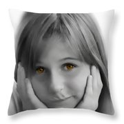 This Is My Thinking Face Throw Pillow