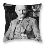 Thomas Hardy (1840-1928) Throw Pillow