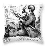 Thomas Nast (1840-1902) Throw Pillow by Granger