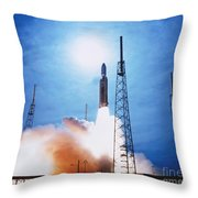 Titan Iv Rocket Throw Pillow