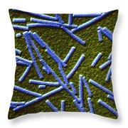 Tobacco Mosaic Virus Throw Pillow by Omikron