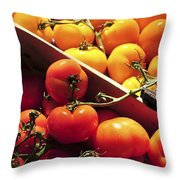 Tomatoes On The Market Throw Pillow by Elena Elisseeva