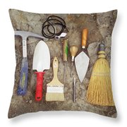 Tools Used To Excavate Dinosaur Fossils Throw Pillow