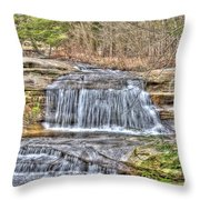 Top Of The Upper Falls Throw Pillow