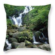 Torc Waterfall, Killarney National Throw Pillow