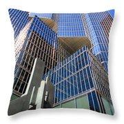 Toronto Financial Core Buildings Throw Pillow
