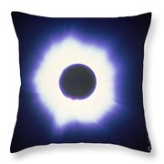 Total Solar Eclipse With Corona Throw Pillow by Science Source