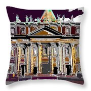 Tourist Magnet Throw Pillow