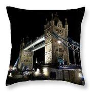 Tower Bridge At Night Throw Pillow