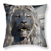 Trafalgar Square Lion Throw Pillow