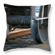 Train Tires Throw Pillow