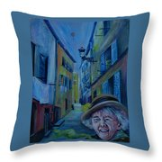 Travel Notebook. Old Nice Throw Pillow