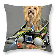 Traveling In Style Throw Pillow