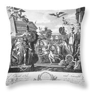 Treaty Of Ghent, 1814 Throw Pillow