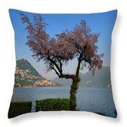 Tree And Mountain Throw Pillow