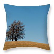 Tree Formation On A Hill Throw Pillow