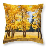 Trees In Autumn Throw Pillow