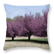 Trees On Warwick Throw Pillow by Trish Tritz