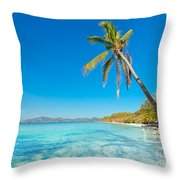 Tropical Beach Malcapuya Throw Pillow
