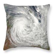 Tropical Cyclone Yasi Over Australia Throw Pillow