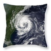 Tropical Storm Gustav Throw Pillow