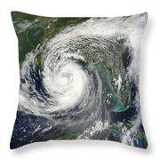 Tropical Storm Isaac Moving Throw Pillow
