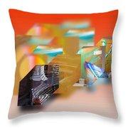 Tsunami Interior Throw Pillow