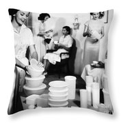 Tupperware Party, 1950s Throw Pillow