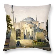 Turkey: Hagia Sophia, 1852 Throw Pillow by Granger