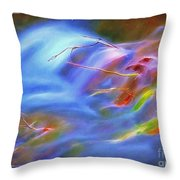 Twigs In The Stream Throw Pillow
